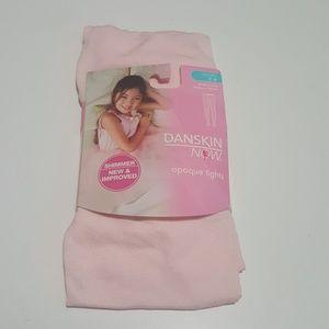 NWT Danskin Now Shimmer Pink Tights-Great 4 ballet